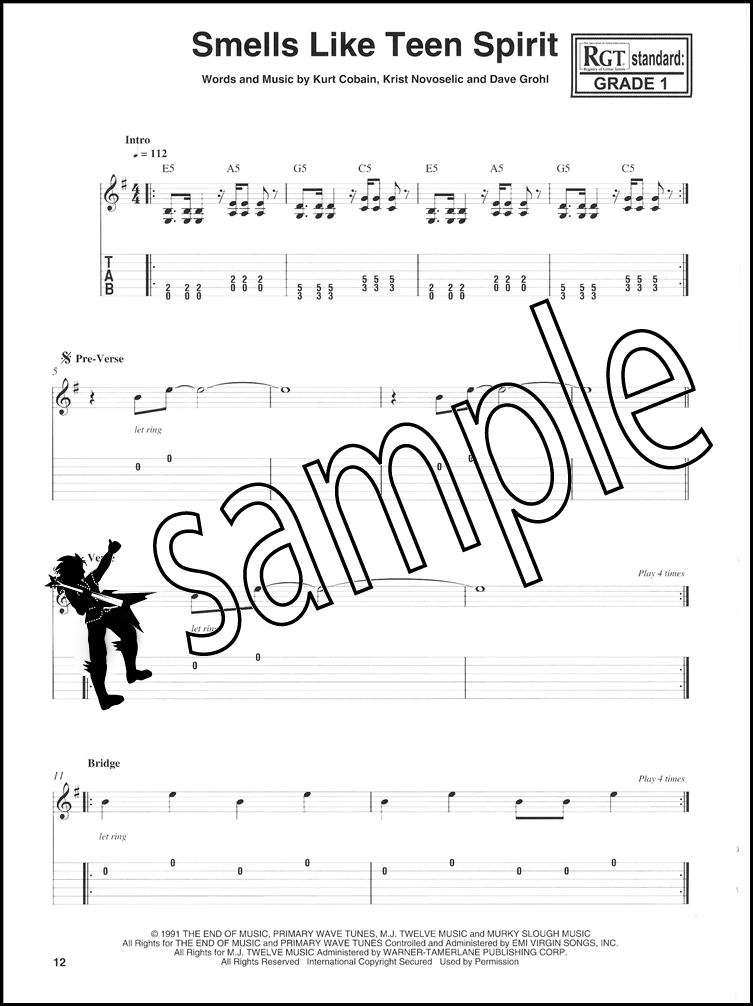 Graded Guitar Songs TAB Book with Audio 8 Rock Classics Beginner RGT ...