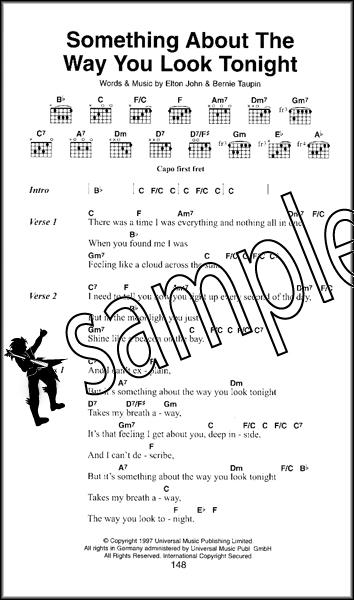 Elton John The Little Black Songbook Guitar Chord Sheet Music Book ...