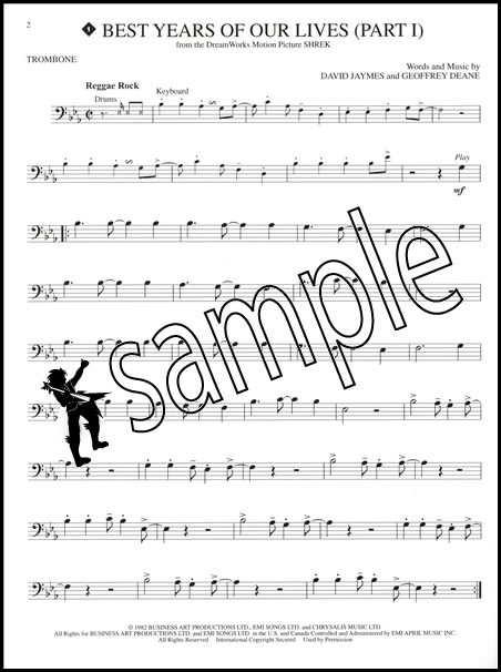 movie songs for trombone sheet music book with play along cd 11 film hits ebay. Black Bedroom Furniture Sets. Home Design Ideas