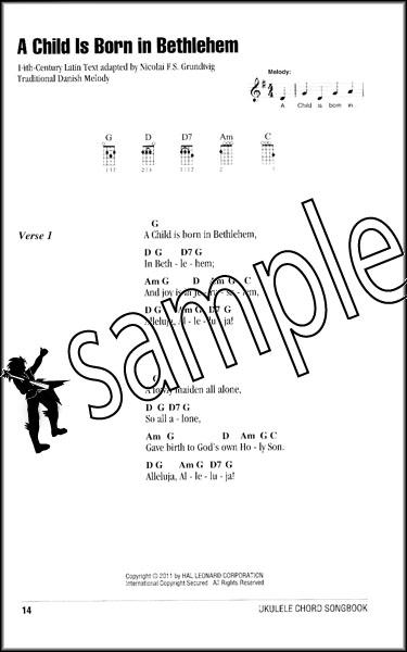 Christmas Carols Ukulele Chord Songbook 75 Xmas Songs 884088589677