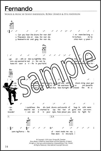 Selections From Abba Gold Strumalong Ukulele Uke Chord Songbook