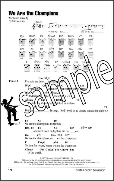 Queen Guitar Chord Songbook   Hamcor