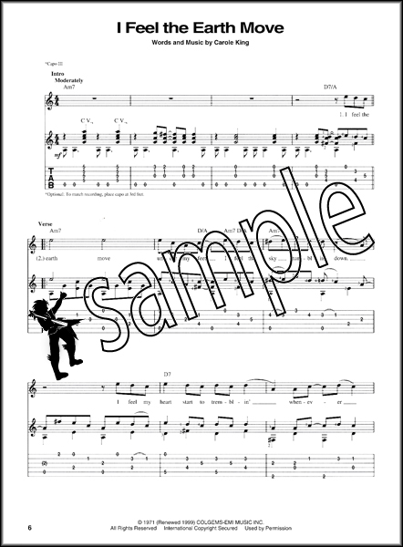 Carole King Tapestry Finger Style Guitar TAB | Hamcor