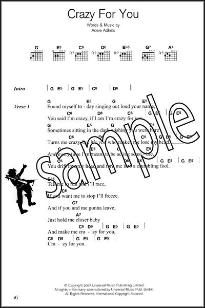 Adele Guitar Chord Songbook Hamcor