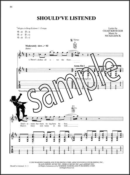 Nickelback Guitar TAB Anthology | Hamcor