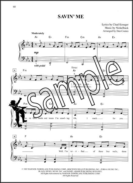 Nickelback Easy Piano Anthology Sheet Music Book with Lyrics and ...