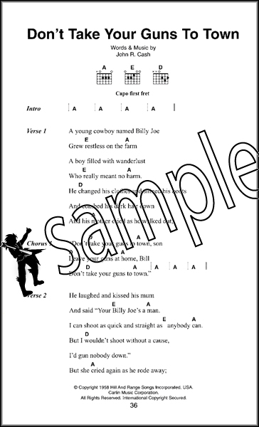 Johnny Cash The Little Black Songbook Guitar Chords & Lyrics Music ...
