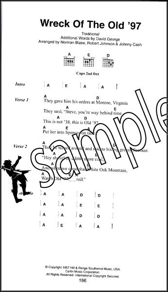 Johnny Cash The Little Black Songbook Guitar Chords & Lyrics Music ...