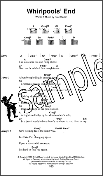 Paul Weller The Little Black Songbook Guitar Chords Lyrics Music