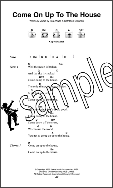 Tom Waits The Little Black Songbook Guitar Chords Lyrics Music