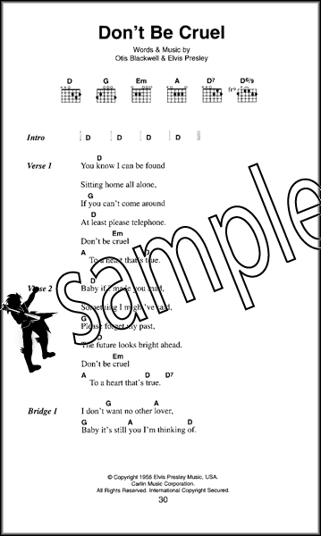 Elvis Presley The Little Black Songbook Guitar Chords & Lyrics Music ...