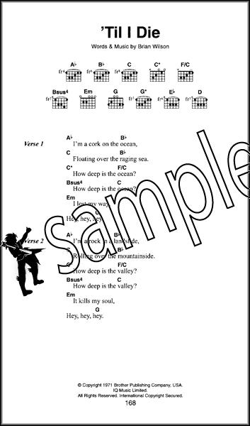 The Beach Boys The Little Black Songbook Guitar Chords Lyrics