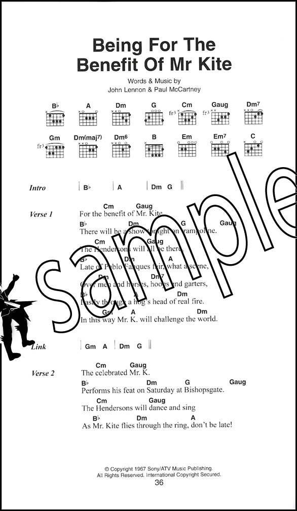 The Beatles The Little Black Songbook Guitar Chords & Lyrics Music ...