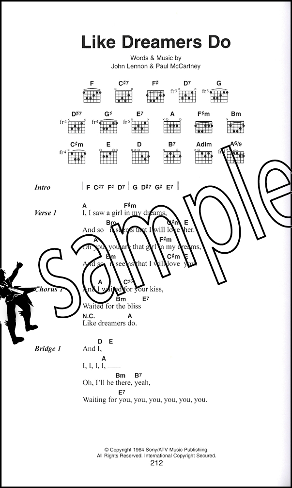 The Beatles The Little Black Songbook Guitar Chords Lyrics Music