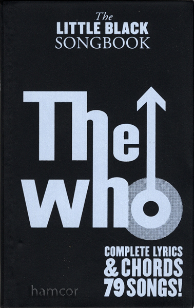 The Who The Little Black Songbook Guitar Chord Music Book Ebay