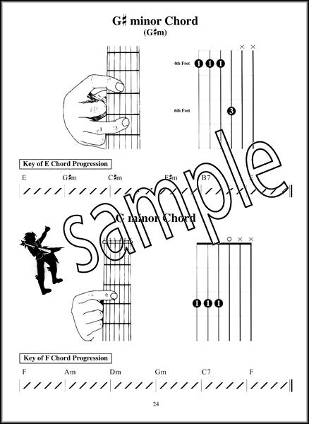 Left Handed Childrens Guitar Chord Book Hamcor
