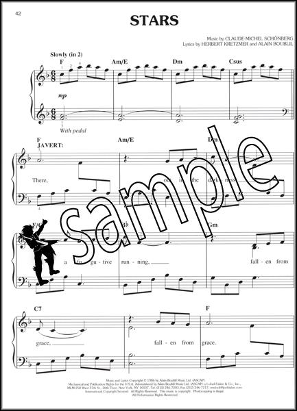 stars les miserables sheet music