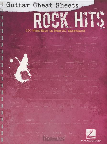 Rock Hits Guitar Cheat Sheets Easy Guitar TAB & Chord Songbook ...