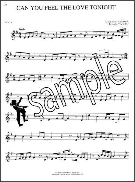 Disney Lion King Violin Sheet Music