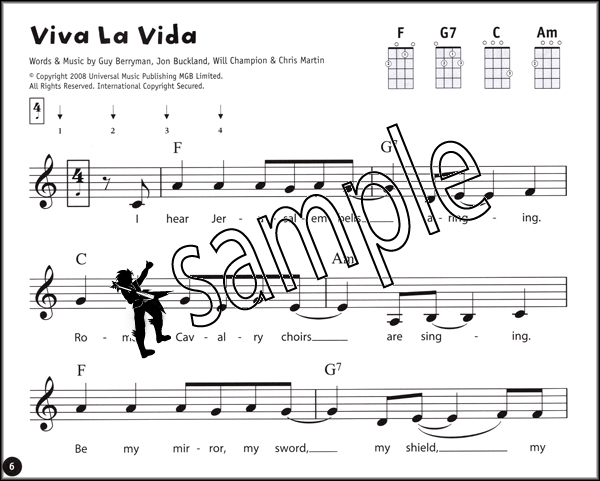 Ukulele From The Beginning Pop Songs The Blue Book Chord Melody