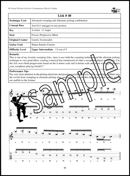60 sweep picking licks for contemporary electric guitar rock tab book dvd cd 796279101028 ebay. Black Bedroom Furniture Sets. Home Design Ideas