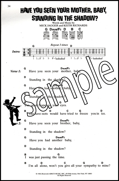 The Rolling Stones Lyric & Chord Songbook | Hamcor