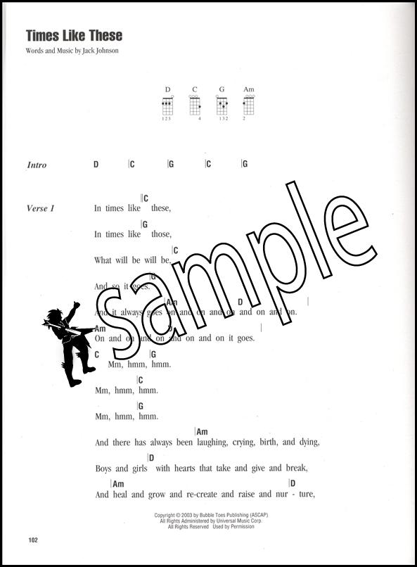 Jack Johnson Strum Sing Ukulele Vocal Chord Songbook 884088593865
