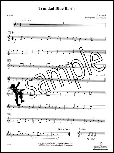 Trinidad Blue Basin Steel Drum Ensemble Sheet Music Score & Parts ...