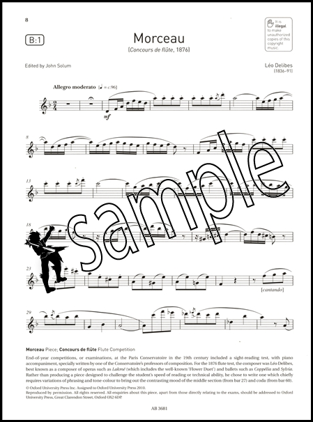 Sehr Flute Exam Pieces ABRSM Grade 5 2014-2017 Part Only Exam Sheet  QB65