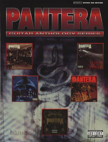 Pantera Guitar Anthology Series TAB Music Book Dimebag Darrell ...