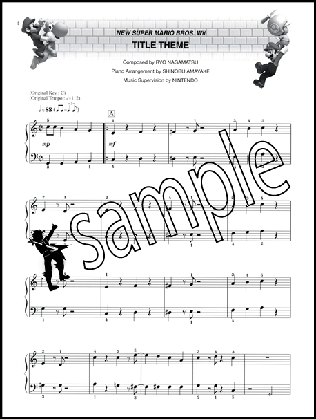 Harmonica harmonica tabs mario : New Super Mario Bros Wii Simplified Piano Solos Easy Sheet Music ...