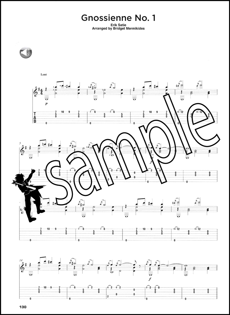 All Music Chords gnossienne no 1 sheet music : The Classical Guitar Compendium TAB Book/Audio | Hamcor