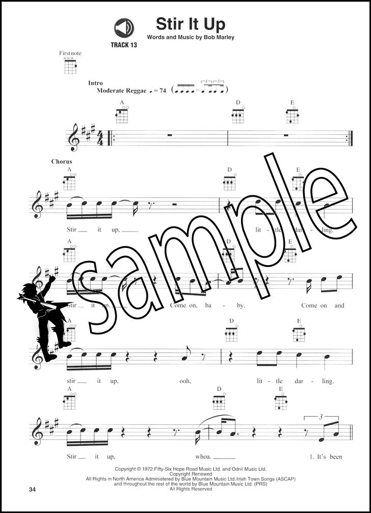Bob Marley Ukulele Play Along Vol 26 Chord Melody Tab Music Book