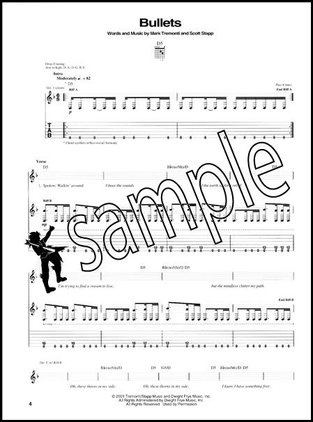 Creed Weathered Guitar TAB | Hamcor