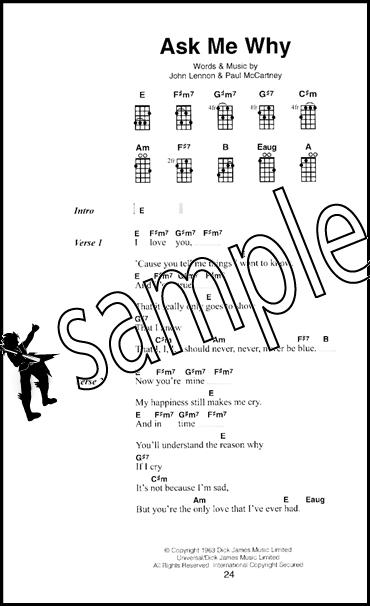 The Little Black Book Of Beatles Songs For Ukulele Chord Songbook Ebay