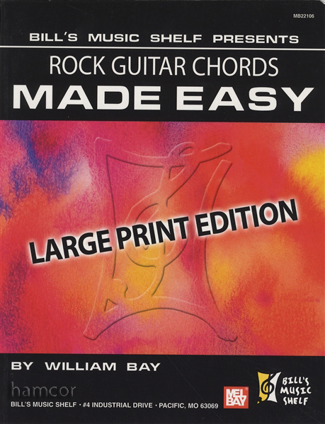 Rock Guitar Chords Made Easy Large Print Edition Chord Book ...