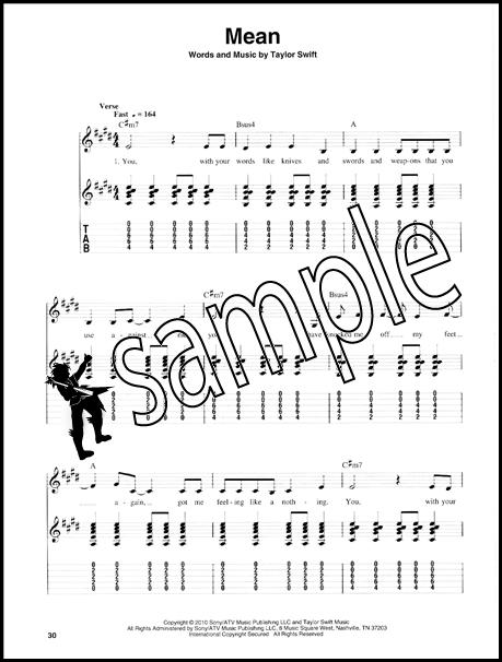 Taylor Swift Easy Guitar Play-Along Vol 12 Book/CD   Hamcor