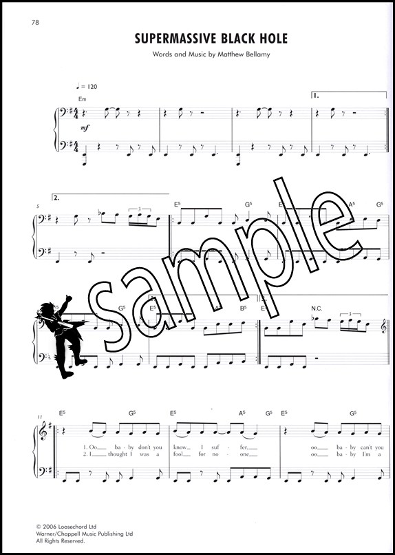 Muse The Easy Piano Songbook Hamcor