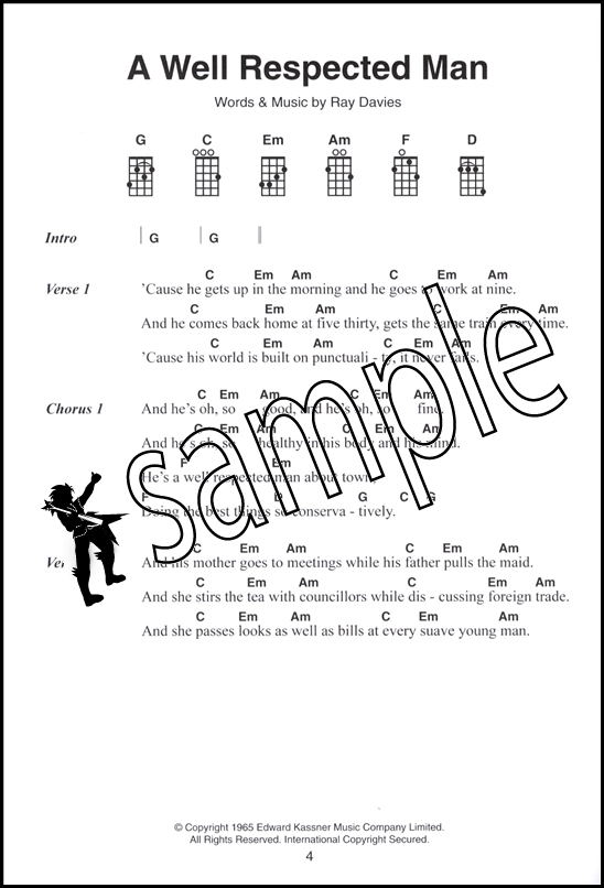 The 6 Chord Songbook Of Great Ukulele Songs Hamcor