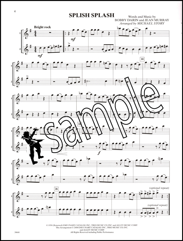 Pop Duets for All Alto Saxophone/Eb Sax/Eb Clarinet Sheet Music ...