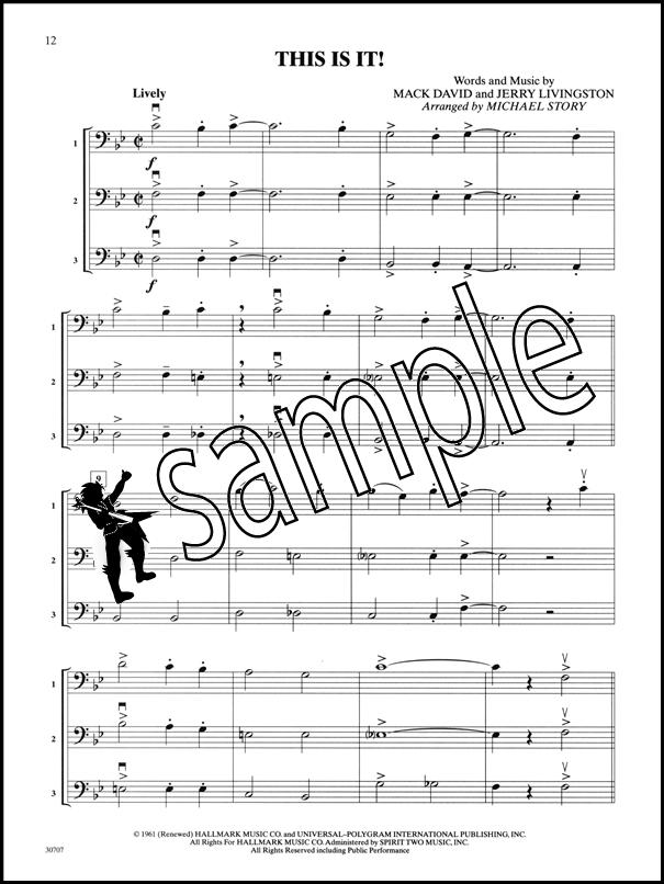 All Music Chords bass sheet music : Pop Trios for All Cello/String Bass Sheet Music Book Ensembles For ...
