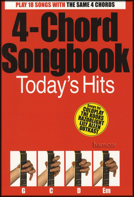 4 Chord Songbook Todays Hits Easy Guitar Chord Song Book Ebay