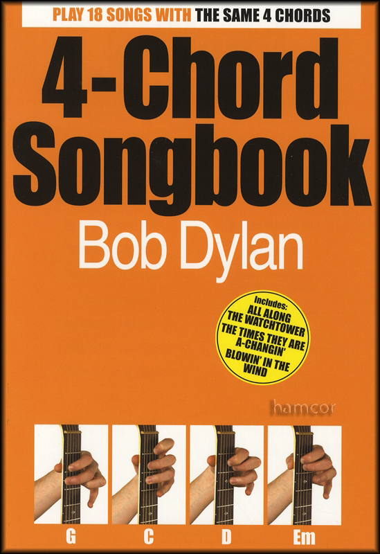 4-Chord Songbook Bob Dylan Easy Guitar Chord Song Book | eBay