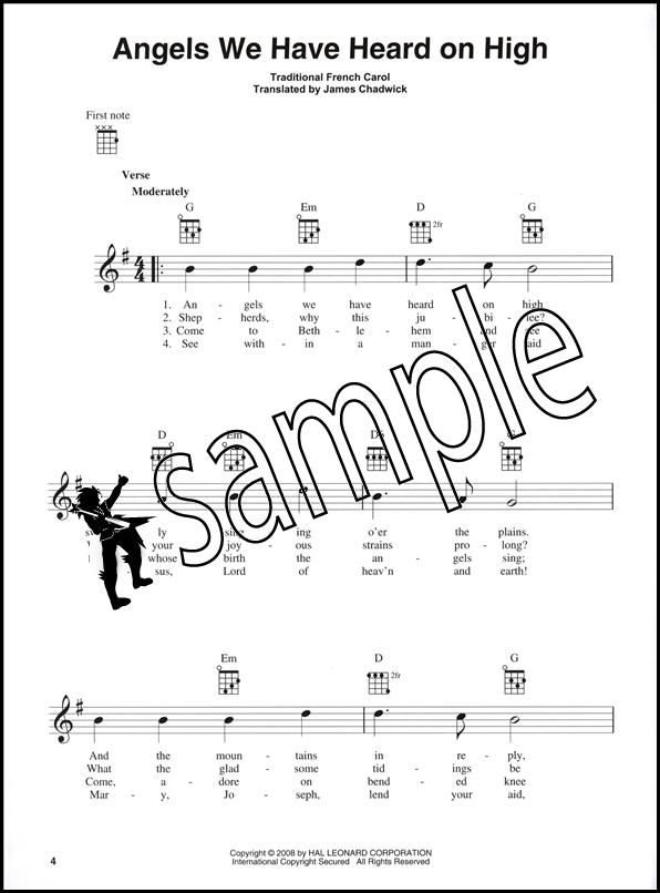Christmas Carols For Ukulele 26 Easy Arrangements Chord Melody