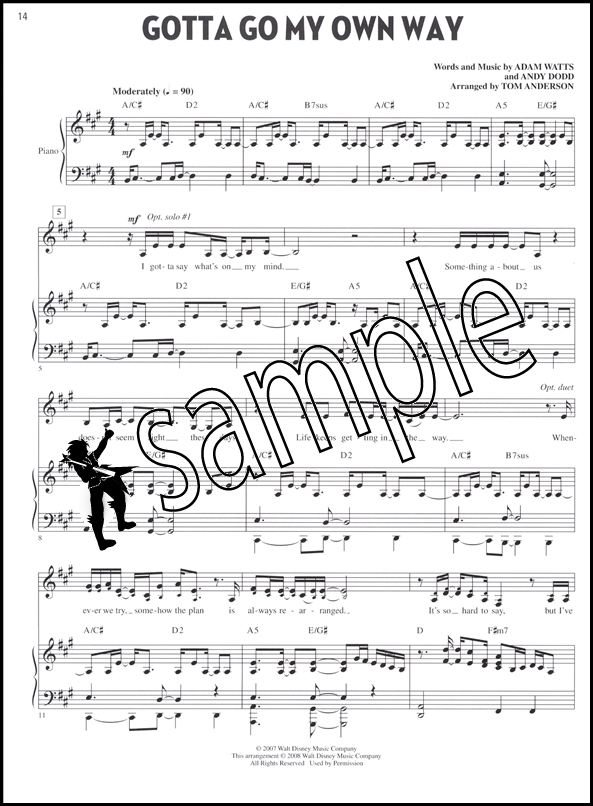 Lets All Sing High School Musical 2 Piano Vocal Guitar Sheet Music