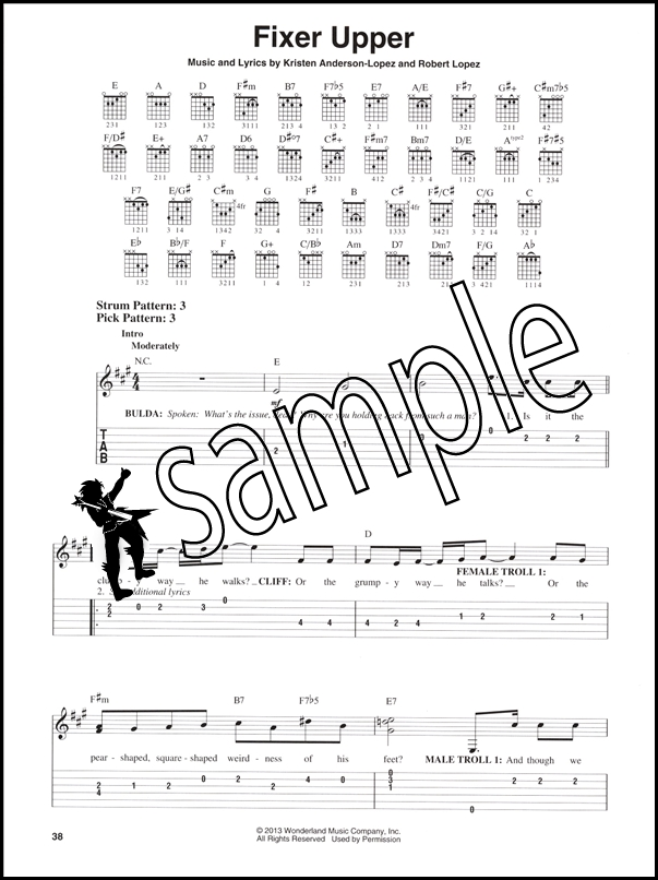 Frozen Easy Guitar With Tab Hamcor
