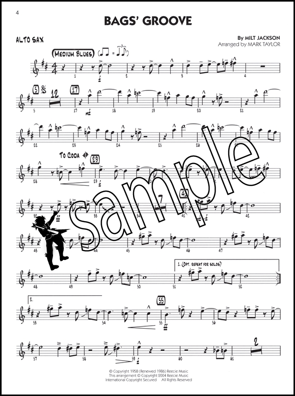 Jazz Classics Big Band Play-Along Alto Sax Book/CD | Hamcor