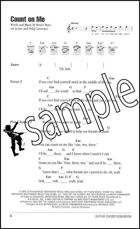 Bruno Mars Guitar Chord Songbook Hamcor