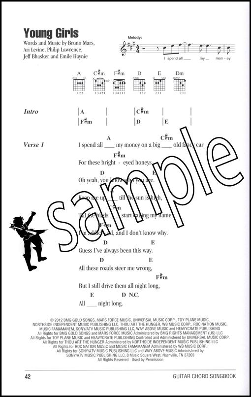 Bruno Mars Guitar Chord Songbook 884088989545 | eBay