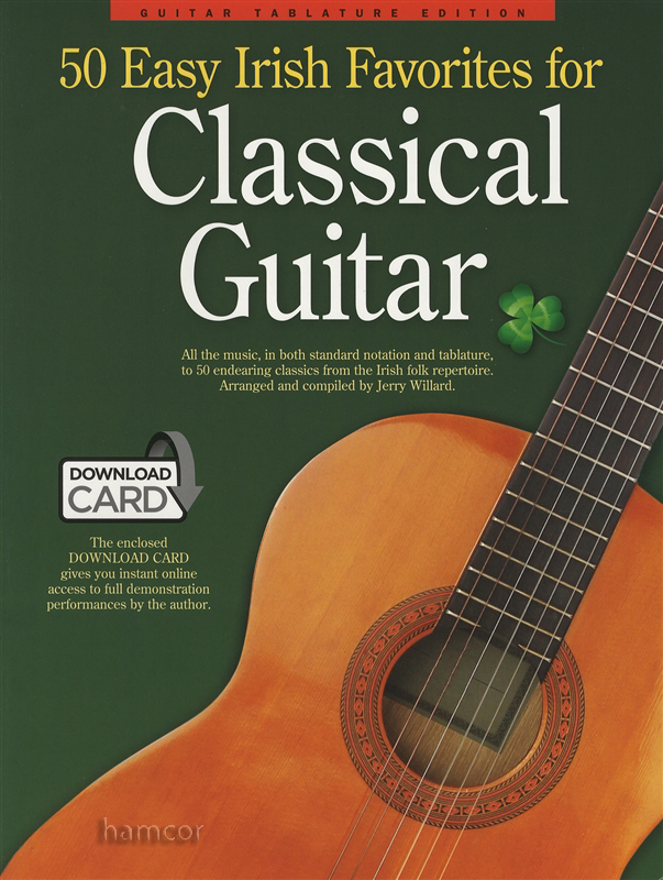 50 Easy Irish Favorites For Classical Guitar Bookaudio Hamcor